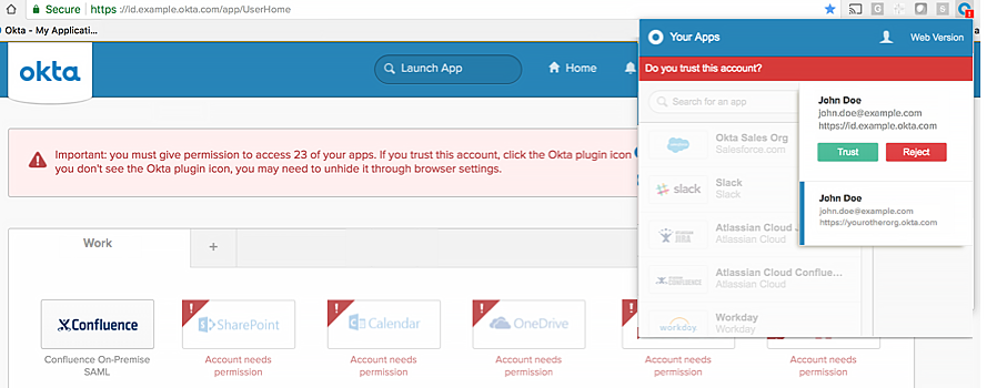 Switch between multiple Okta accounts using the plugin | Okta